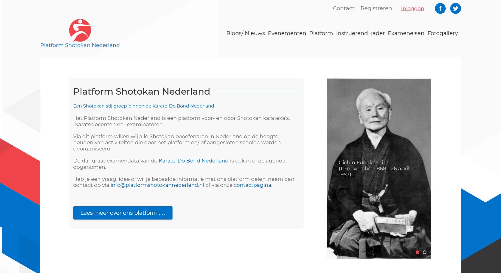 Nieuwe website Platform Shotokan Nederland